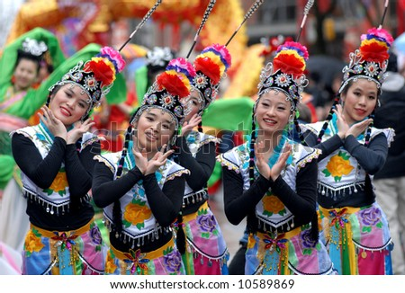 EDITORIAL - Chinese New Year Parade - stock photo
