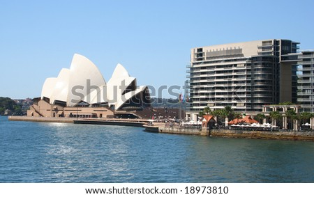Editorial: Sydney Australia - October 2008: Sydney Opera House was inscribed as a UNESCO World Heritage Site on 28 June 2007 - stock photo