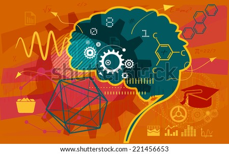 Education Abstract - Illustration - stock photo