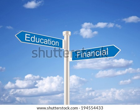 Education and Financial - stock photo