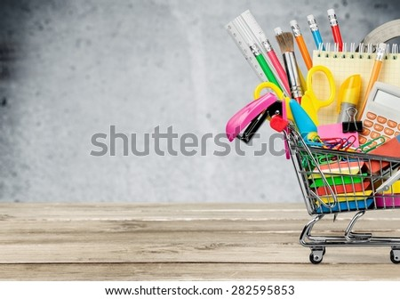 Education, Back to School, Shopping. - stock photo