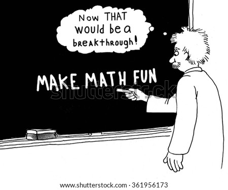 Education cartoon about math.  - stock photo