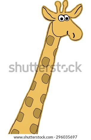 Education cartoon of giraffe. - stock photo