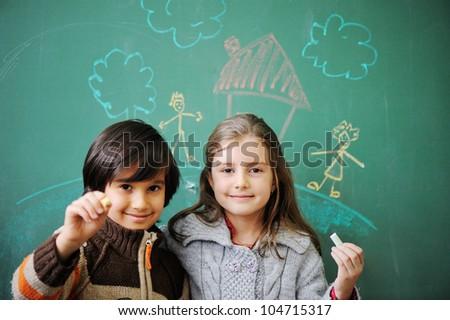 Education, children, happiness - stock photo