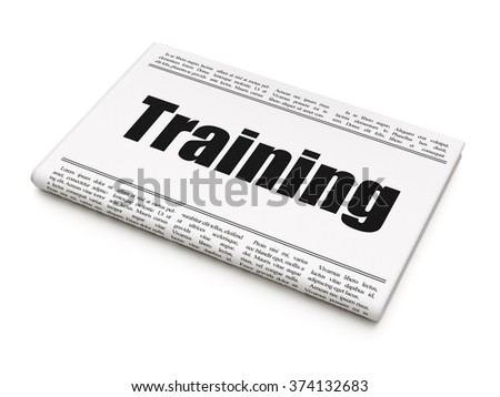 Education concept: newspaper headline Training - stock photo