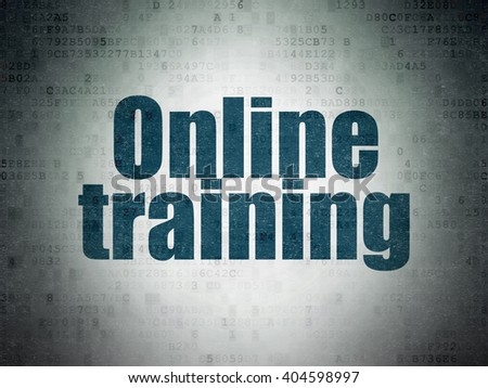 Education concept: Painted blue word Online Training on Digital Paper background - stock photo