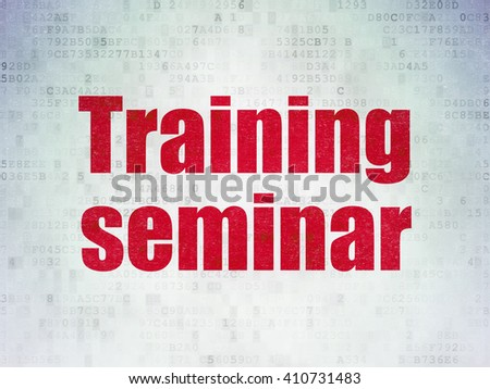 Education concept: Painted red word Training Seminar on Digital Data Paper background - stock photo