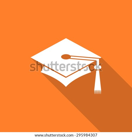 education flat design modern icon with long shadow for web and mobile app  - stock photo