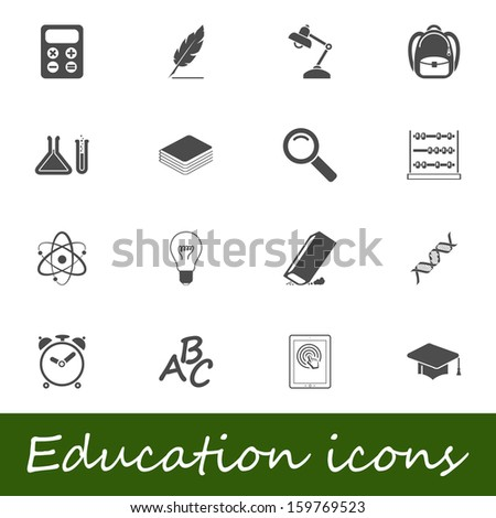Education icons.  - stock photo