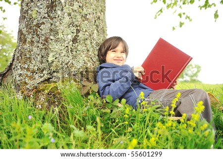 Education in nature - stock photo