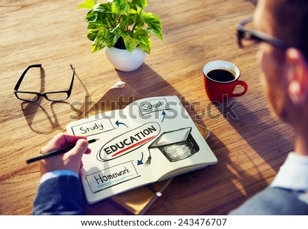 Education Knowledge Ideas Planning Working Learning Concept - stock photo