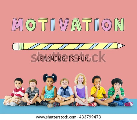 Education Learning Is Fun Children Graphic Concept - stock photo