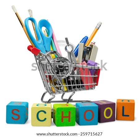 Education, School Supplies, Equipment. - stock photo