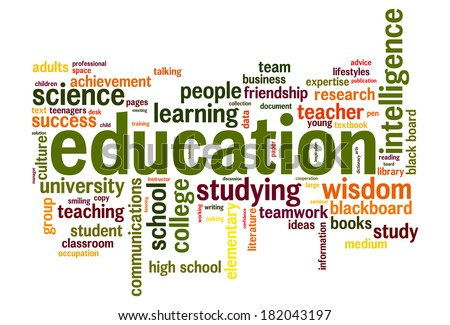 Education word cloud conceptual image - stock photo