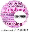 Education. Word collage on white background. - stock photo