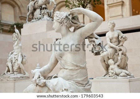 Educational concepts: interior of an European museum - stock photo