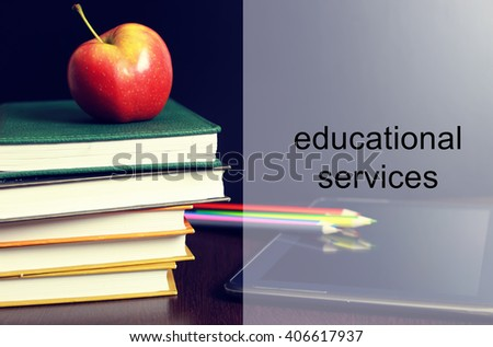 educational services background - stock photo