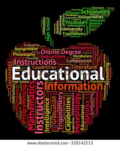 Educational Word Indicating Develop Words And Educating - stock photo