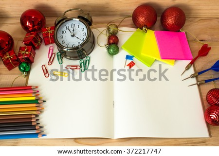 Eduction background. Empty book for copyspace - stock photo