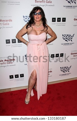 Edy Williams at the 2013 Genesis Awards Benefit Gala, Beverly Hilton, Beverly Hills, CA 03-23-13 - stock photo