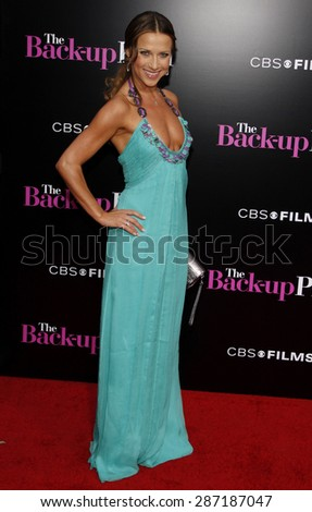 Edyta Sliwinska at the Los Angeles premiere of 'The Back-Up Plan' held at the Regency Village Theatre in Westwood on April 21, 2010.  - stock photo