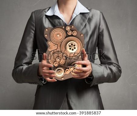 Effective working mechanism - stock photo