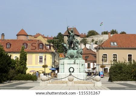 Eger, Dobo square - stock photo