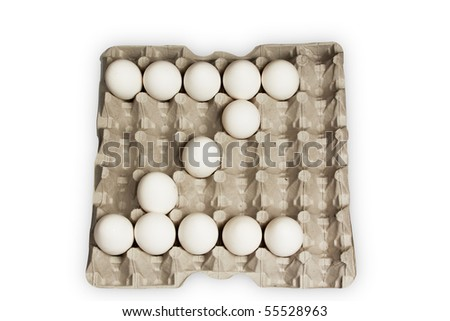 egg alphabet letter z - stock photo