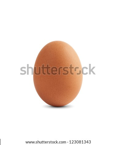 Egg are isolated on the white - stock photo