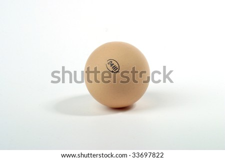 Egg with stamp - stock photo