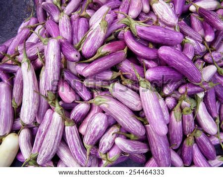 Eggplant Brinjal Vegetable Background - stock photo
