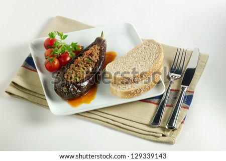 eggplant food - stock photo