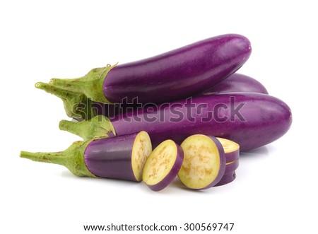eggplant isolated on a white background - stock photo