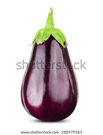 Eggplant isolated on white  Clipping Path - stock photo