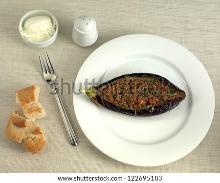 eggplant meal - stock photo