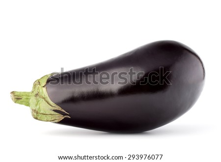 Eggplant or aubergine vegetable isolated on white background cutout - stock photo