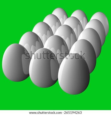 Eggs Green Screen - stock photo