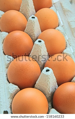 eggs in a paper box - stock photo