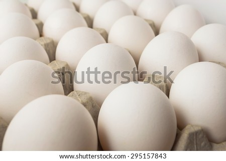 eggs in the package, food,farm, chicken, full, organic, eating - stock photo