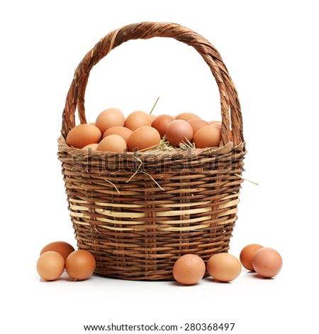 eggs isolated on white background - stock photo