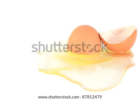 eggs on a white background - stock photo