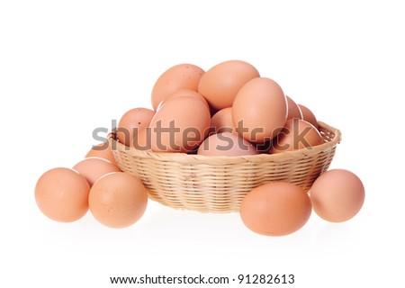 eggs on a white background - stock photo