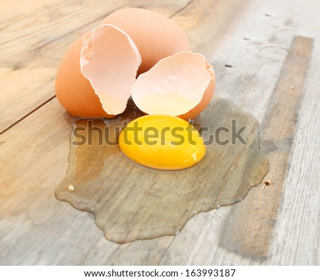 eggs on a wooden background  - stock photo