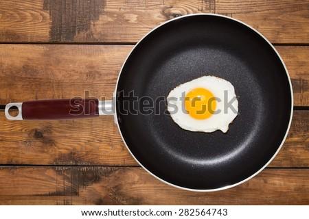 Eggs, Pan, Fried Egg. - stock photo