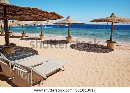 Egypt beach - stock photo