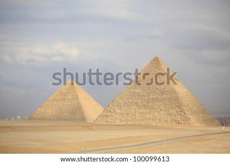 egypt, cairo/pyramids/ - stock photo