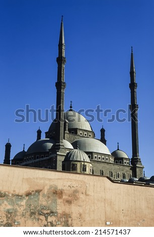 Egypt, Cairo, view of the Mohamed Aly Mosque - FILM SCAN - stock photo