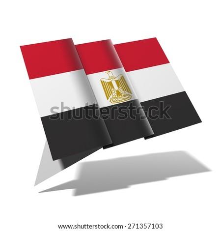 Egypt flag 3D banner - stock photo