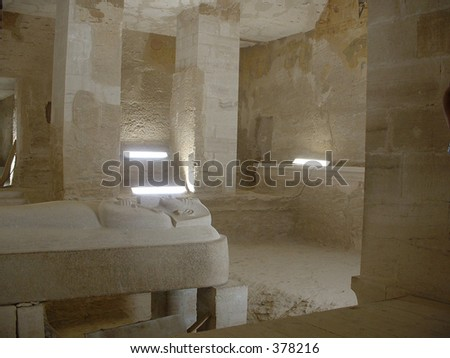 Egypt: Inside a tomb, Valley of the Kings - stock photo