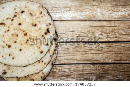 Egyptian brown bread  - stock photo